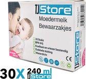 30 stuks 240ml - borstvoeding zakjes - moedermelk zakjes - moedermelk bewaarzakjes