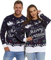 "Foute Kersttrui Dames & Heren - Christmas Sweater ""Stijlvol Merry Christmas"" - Kerst trui Mannen & Vrouwen Maat L"