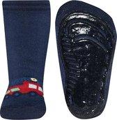 Antislip sokken donkerblauw met brandweerauto-18/19
