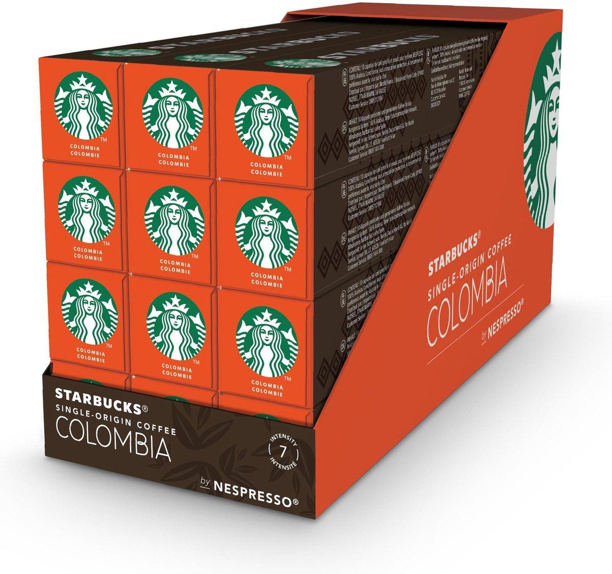 Starbucks by Nespresso capsules Medium Roast Colombia - 12 doosjes à 10 koffiecups