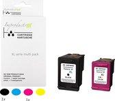 Improducts® Inkt cartridges - Alternatief Hp 303XL Zwart T6N04AE & Kleur T6N03AE SET