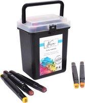 Afbeelding van Fine art dual-tip markers, 24 stuks in handige box
