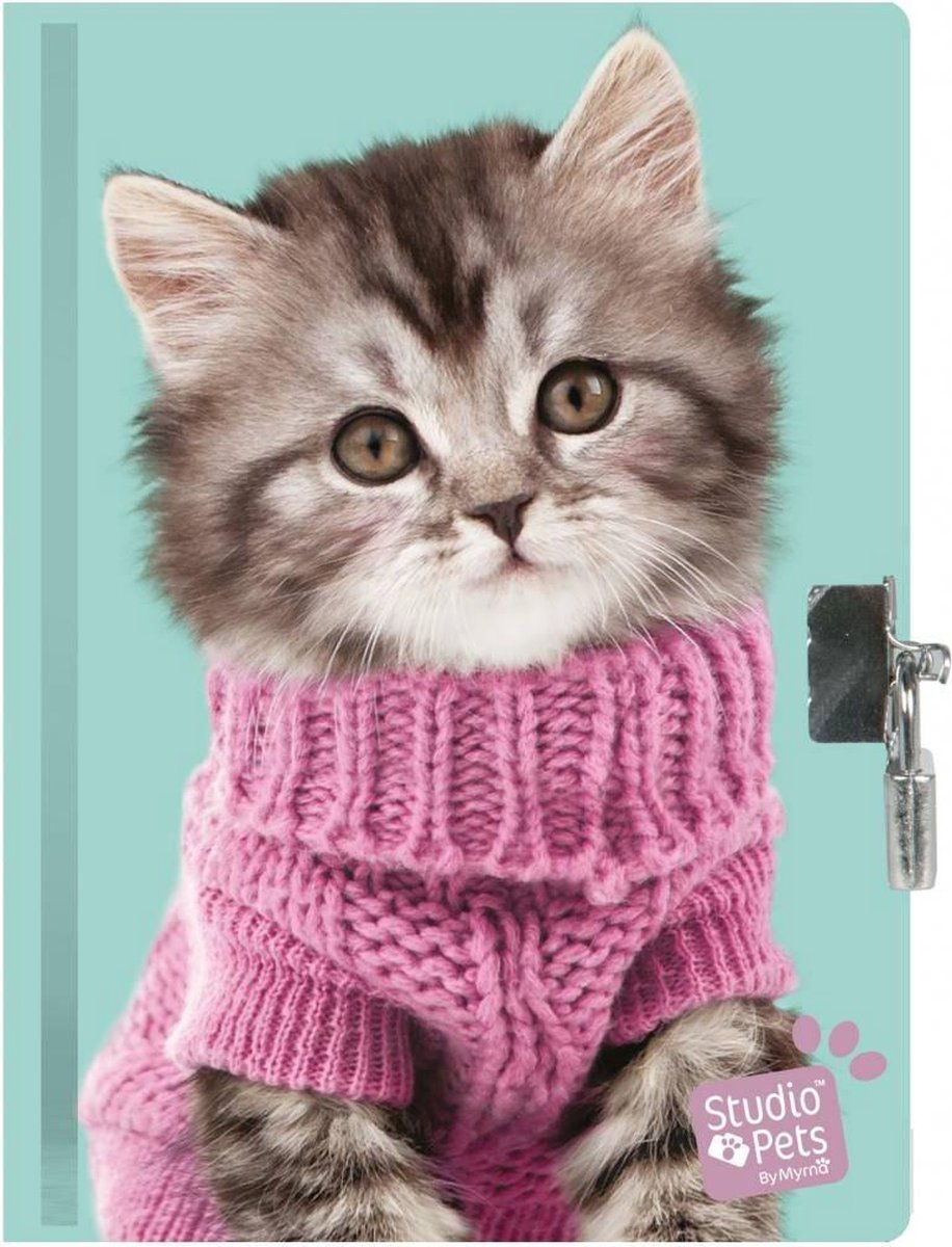 Studio Pets - Dagboek - 15 x 20 cm - Inclusief slotje - Multi -