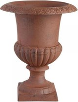 Franse hoge vaas 29 cm Antiek roestbruin