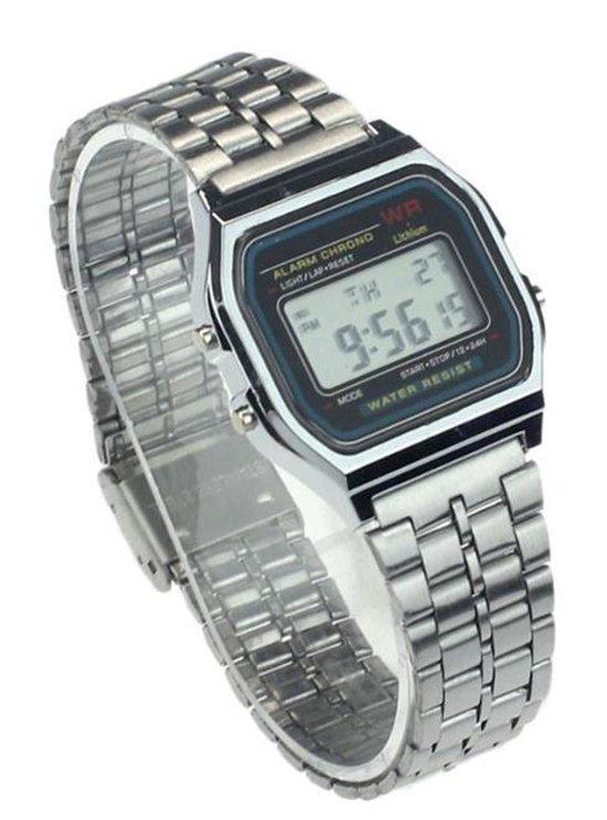 Hidzo Horloge Digital Watch ø 37 mm – Zilver – In horlogedoosje