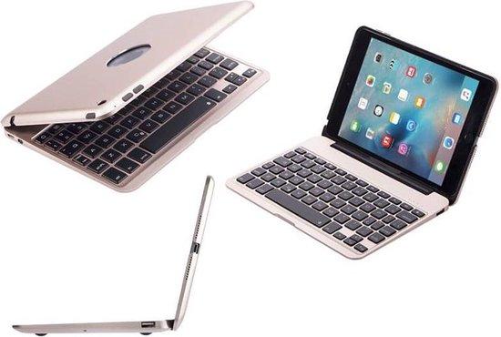 | Aluminium Toetsenbord Hoes iPad Mini 4 Goud