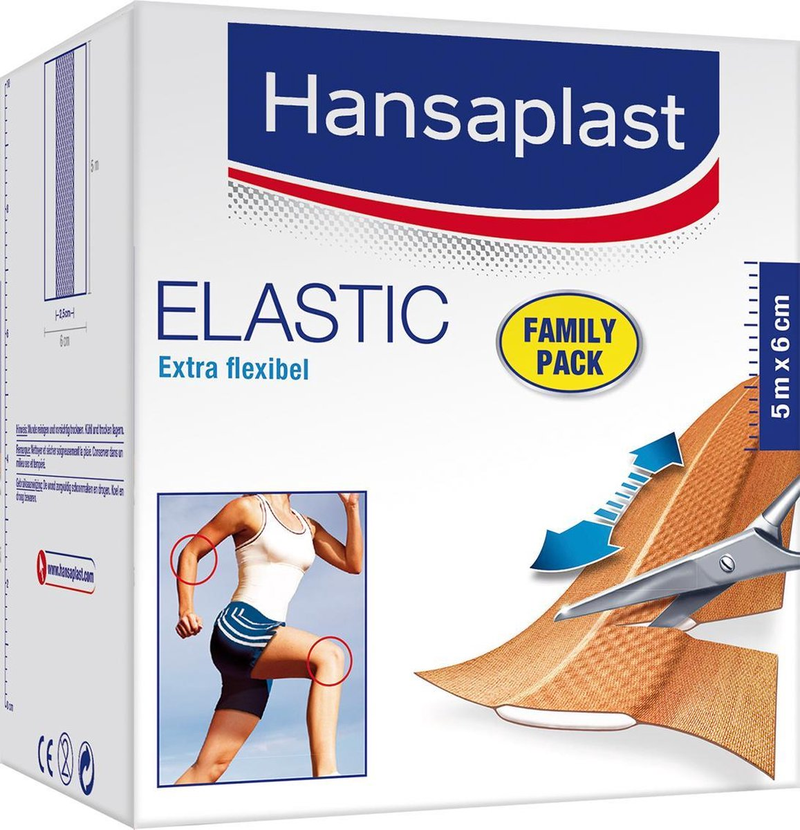 Hansaplast Elastic Family Pack Pleisters - 5m x 6cm