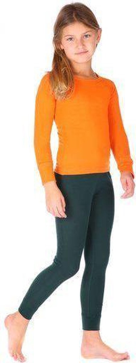 Thermo4sports - thermokleding - thermoset oranje - donkergroen maat 128