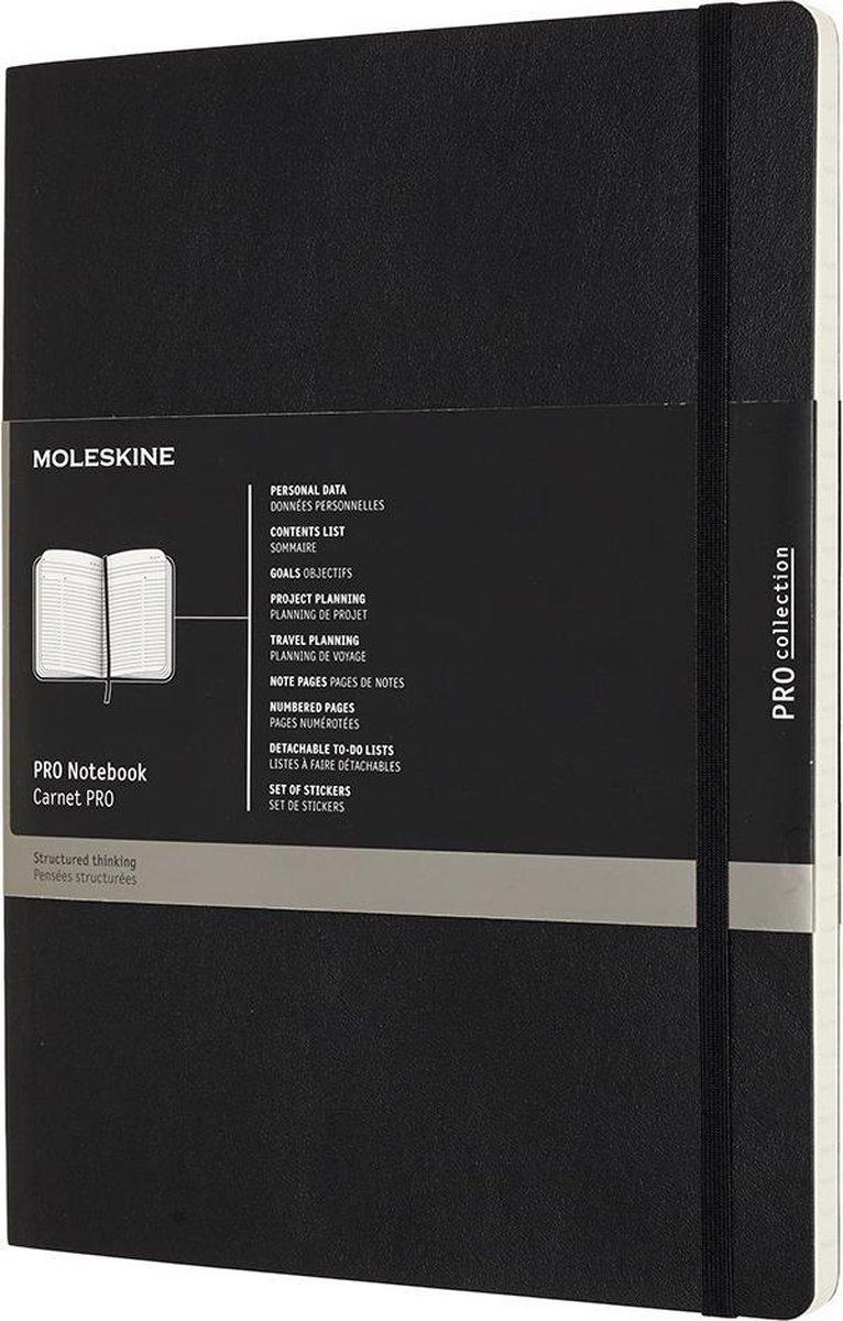 Moleskine Professional Notitieboek- Xl Soft Black