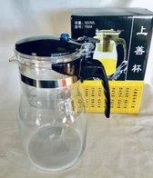 Theepot-filter setsysteem 900 ml  voor 3-4 glazen thee  Uniek theefilter potje voor het zetten van losse thee