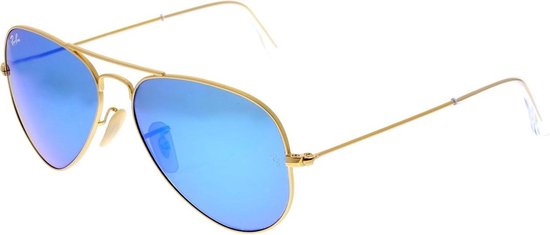 Ray-Ban RB3025 112/17 - Aviator (Flash) - zonnebril - Goud / Blauw Flash - 58mm