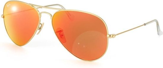 Ray-Ban RB3025 112/69 - Aviator (Flash) - zonnebril - Goud / Oranje Flash - 55mm