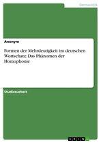 Formen der Mehrdeutigkeit im deutschen Wortschatz: Das Phänomen der Homophonie