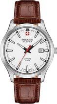 Swiss Military Hanowa 06-4303.04.001 horloge heren - bruin - edelstaal