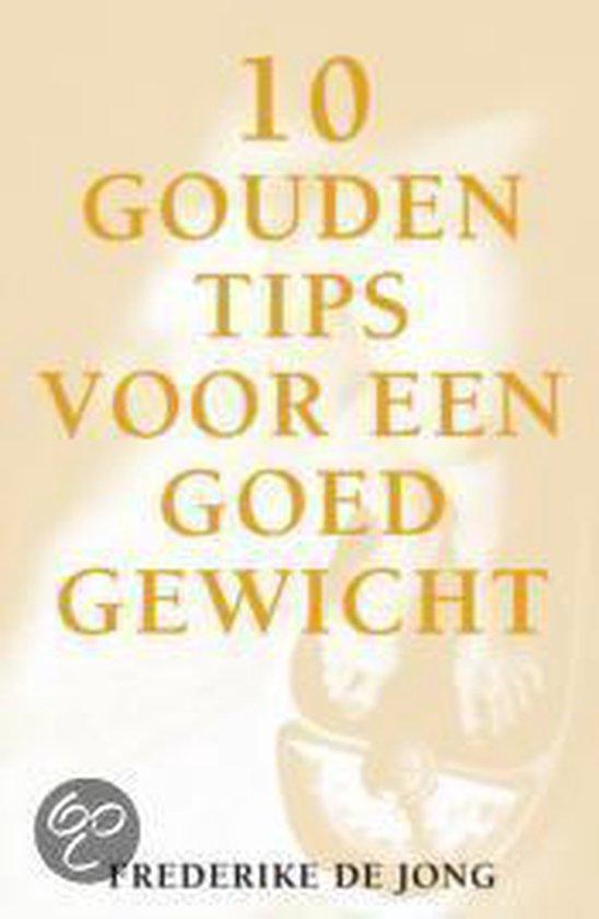 Cover van het boek '10 gouden tips voor een goed gewicht' van Frits de Jong