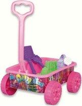 Strandspeelgoed Wagentje - 6delig - Roze