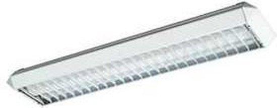 Daks Facetline Raster tl-armatuur 2 x 18 W G13 lichtkleur koel wit