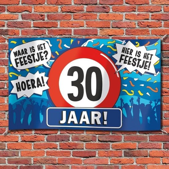 Gevelvlag verjaardag 30 jaar 100 x 150 cm
