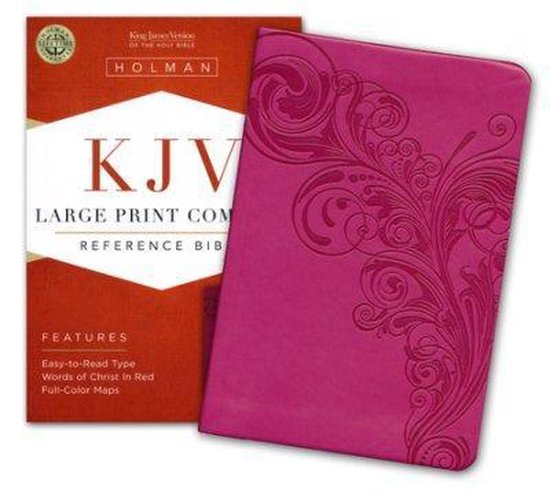 KJV Large Print Compact Reference Bible, Pink LeatherTouch - Diverse auteurs |