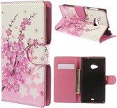 Pink plum wallet hoesje Microsoft lumia 535