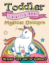 Magical Unicorn Toddler Coloring Book 50 Pages very easy for beginners