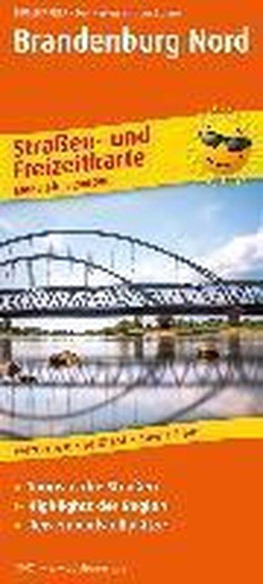 Brandenburg-Berlin-Nord. Straßen- und Freizeitkarte 1 : 200 000