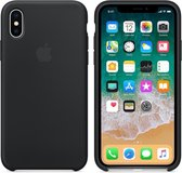 Apple Siliconen Back Cover voor iPhone X - Zwart