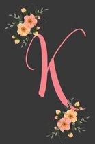 K Initial Monogram Dot Grid Notebook Journal