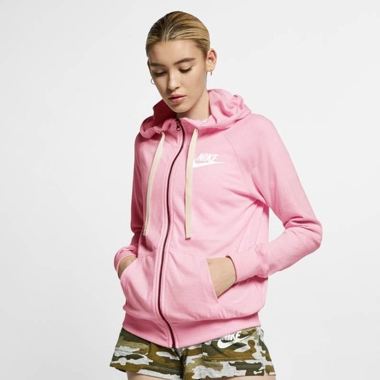 Nike W NSW Gym Vntg Hoodie Fz Sportvest Dames - Pink Foam /Sail