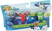Super Wings Transform-a-bots 4pk (Agent chace&Flip&Jerome&Mira)