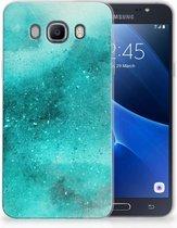 Samsung Galaxy J7 2016 Uniek TPU Hoesje Painting Blue