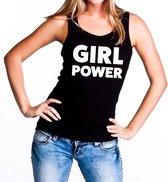 Girl Power tekst tanktop / mouwloos shirt zwart dames - dames singlet Girl Power L