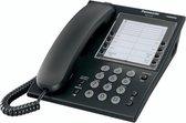 PANASONIC KX-T7710 elegante analoge telefoon met 5 direkte geheugentoetsen; zwart