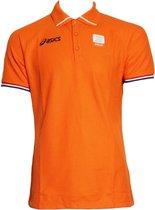Asics Lifestyle Polo Shirt Heren Oranje - Maat XL