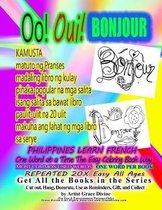 Oo Oui BONJOUR PHILIPPINES LEARN FRENCH KAMUSTA matuto ng Pranses madaling libro ng kulay pinaka-popular na mga salita isang salita sa bawat libro paulit-ulit na 20 ulit makuha ang lahat ng mga libro sa serye