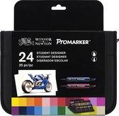 Winsor & Newton Promarker Student Designer Set, etui 24 kleuren