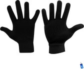 Handschoenen gebreid anti-slip grip sport zwart senior maat s/m