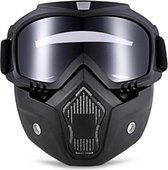 Motor-Fiets-Scooter-Ski bril & Masker I Anti-UV lens I Zwart