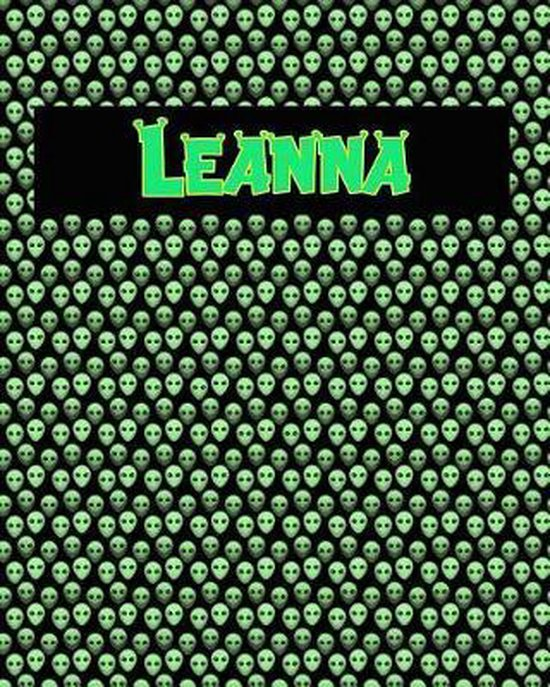 120 Page Handwriting Practice Book with Green Alien Cover Leanna