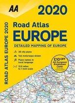 Boek cover AA Road Atlas Europe 2020 van AA Publishing