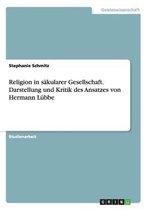 Religion in sakularer Gesellschaft. Darstellung und Kritik des Ansatzes von Hermann Lubbe