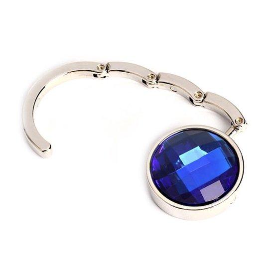 RVS Tashanger - 2 Stuks - Tassenhaak / Tashaak / Tassenhanger / Tafelhanger- Blauw