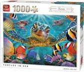 Afbeelding van King Puzzel 1000 Stukjes (68 x 49 cm) - Schildpad - Legpuzzel - Dieren