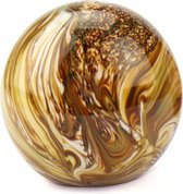 Glasobject Elan Marble mini urn glas earth 1500 ml