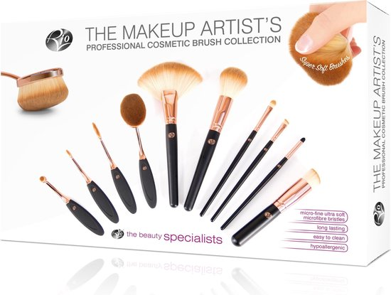 RIO BRCO The Make-Up Artists Pro Brush Collection 10st - Rio