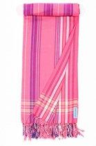 Kikoy Hamamdoek Pink Stripes - 170x95 cm - Roze