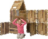 Huttenbouw pakket Fantasy Fort 34 delig - Speelhuis