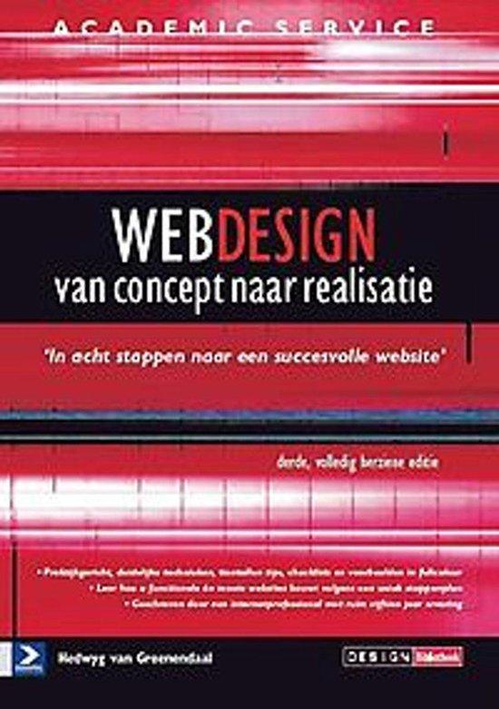 Cover van het boek 'Webdesign van concept tot realisatie'