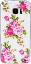 For Samsung Galaxy S7 Edge / G935 Noctilucent Rose Flower patroon IMD Workmanship Soft TPU beschermings hoesje