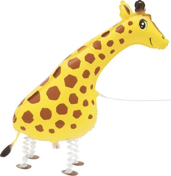 Metallic wandelende giraffe ballon - Feestdecoratievoorwerp